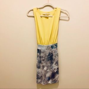 RACHEL Rachel Roy Dresses - Rachel Roy Yellow and Blue/White Sequin Dress